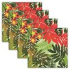 <strong>Design Imports</strong> Palm Paradise Print Napkin (Set of 4)