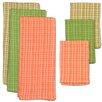 Design Imports 6 Piece Palm Paradise Heavyweight Dishtowel And Dishcloth Set