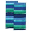 <strong>Design Imports</strong> Deep Sea Stripe Dishtowel (Set of 2)