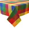 Design Imports Palette Check Table Cloth