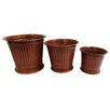 UrnsDirect2U 3 Piece Round Column Planter Set