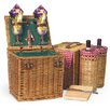 <strong>Picnic Time</strong> Vino Wine & Cheese Picnic Basket in Pine Green