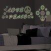 Peace Love Flowers Glow in the Dark Wall Art Kit