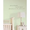 Jack be Nimble Baby Nursery Rhyme Wall Decal