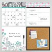 WallPops! Art Kit Floral Medley Organizer Chalkboard Wall Decal