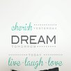 <strong>WallPops!</strong> Art Kit Cherish Dream Live Quote Wall Decal