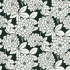 <strong>Brewster Home Fashions</strong> Ink Zinnia Flower Wallpaper