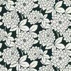 Brewster Home Fashions Ink Zinnia Flower Wallpaper Sample