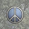 Brewster Home Fashions Peace Sign Stained Appliqué Window Sticker