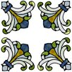 Brewster Home Fashions Medici Corners Stained Glass Appliqué Window Sticker