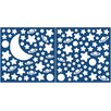 Brewster Home Fashions Home Decor Glow in the Dark Moon & Stars Wall Decal