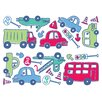 <strong>Brewster Home Fashions</strong> Fun4Walls Stikarounds Beep Beep Wall Decal