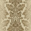 <strong>Brewster Home Fashions</strong> Pompei Syracuse Leafy Damask Wallpaper