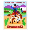Ride 'em Personalized Kids Book Plate (Set of 18)