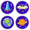 Out of This World Large Drawer Knob Set (Set of 4)