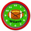 "<strong>Olive Kids</strong> Football 12"" Personalized Wall Clock"