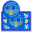 <strong>Hanukkah Personalized Kids Meal Time Plate Set</strong> by Olive Kids