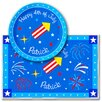 <strong>Olive Kids</strong> 4th of July Rocket Personalized Meal Time Plate Set