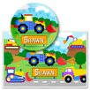 Olive Kids Under Construction Personalized Meal Time Plate Set