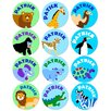 <strong>Wild Animals Personalized Stickers (Set of 60)</strong> by Olive Kids