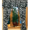Black Zebra /Cotton Drape Panel Pair