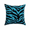 <strong>Karin Maki</strong> Zebra Cotton Blend / Polyester Square Pillow