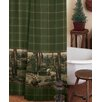 <strong>Blue Ridge Trading</strong> Moose Mountain Cotton/Polyester Shower Curtain