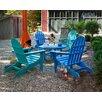 POLYWOOD® Classic Folding Conversation 5 Piece Adirondack Seating Group