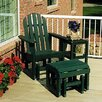 <strong>Adirondack Glider Chair & Ottoman Set</strong> by POLYWOOD®