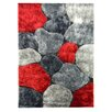 <strong>DonnieAnn Company</strong> Flash Shaggy Red Abstract Color Block Rug