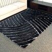 DonnieAnn Company Shaggy Black Abstract Wave Area Rug
