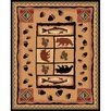 <strong>DonnieAnn Company</strong> Lodge Design Fish, Tree and Bear Novelty Rug