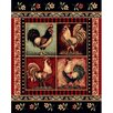 <strong>DonnieAnn Company</strong> Lodge Design Rooster Novelty Rug