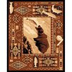 <strong>DonnieAnn Company</strong> Lodge Design Fish and Bear Novelty Rug