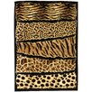 <strong>DonnieAnn Company</strong> Skinz 71 Mixed Animal Skin Prints Horizontal Patchwork Design Rug