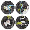 "notNeutral City on a Plate 12"" Dinner Plate Set"