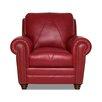 Luke Leather Weston Italian Leather Chair and Ottoman