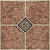 """Home Dynamix 12"""" x 12"""" Vinyl Tile in Machine Marble Traditional"""