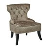 Ave Six Colton Vintage Style Button Tufted Velvet Side Chair