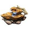 Alpine Fiberglass Tiered Tabletop Leaf Fountain