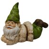 Alpine Gnome Lying Down Statue