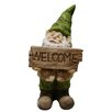 <strong>Gnome with Welcome Sign Statue</strong> by Alpine