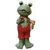 Alpine Frog Boy in Suspenders Statue
