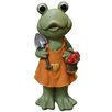 Alpine Frog Girl in Dress Statue