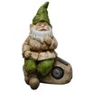 <strong>Gnome Statue with Solar Rock</strong> by Alpine