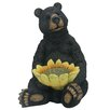 <strong>Alpine</strong> Bear Sitting with Sunflower Birdfeeder Statue