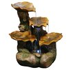 <strong>Alpine</strong> Polyresin Tiered Leaf Fountain