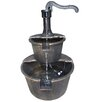 <strong>Two Tier Pump and Barrel Fountain</strong> by Alpine