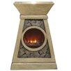Alpine Fiberglass Sculptural Fire Fountain I
