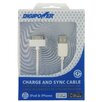 <strong>MizcoInternational</strong> IPhone and IPod Charge and Sync Cable